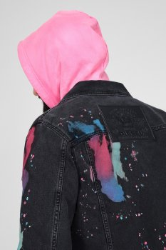 Чорна джинсова куртка NHILL-C-SP Diesel A01958 009QV