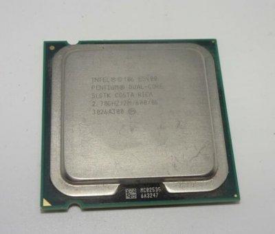 Процесор Intel Pentium Dual Core E5400 (S775/2x2.7GHz/2MB/65 Вт/BX80571E5400) Б/У