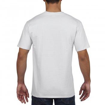 Футболка Premium Cotton біла 100% бавовна ТМ Gildan