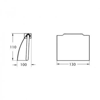 Тримач для туалетного паперу Lidz Хром (LIDZCRM1210404)