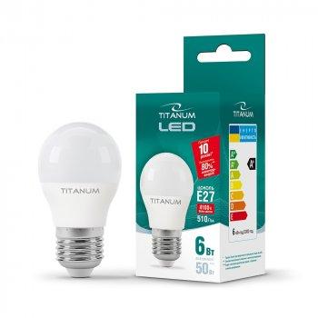 LED лампа TITANUM G45 6W 4100K E27 220V (ТL-G45-06274)