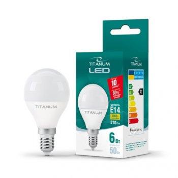 LED лампа TITANUM G45 6W E14 3000K 220V (ТL-G45-06143)