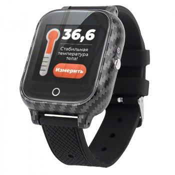 Дитячі смарт годинник JETIX T-Watch з термометром, GPS трекером, телефоном, вібродзвінком і датчиком падіння(Black)