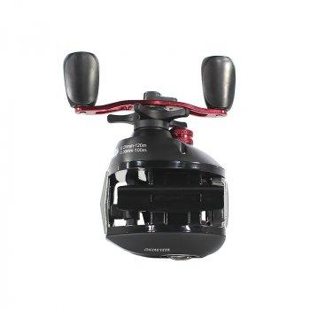 Катушка Reelsking СD 201 Black-Red Left рыболовная для левой руки пресноводной рыбалки