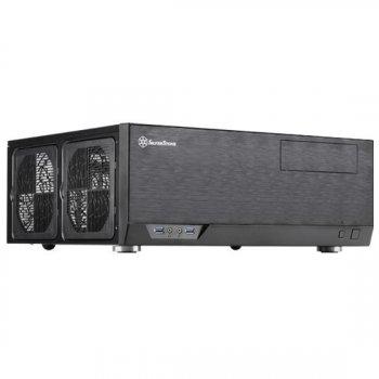 Корпус SilverStone GRANDIA GD09B-C,Extended ATX/SSI-EEB,USB3.0*1,USB Type-C *1,1*120мм,безБП,черный (JN63SST-GD09B-C)
