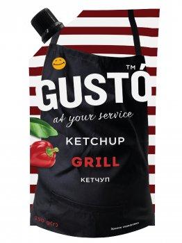 Упаковка кетчупа GUSTO Grill 250г*20шт.