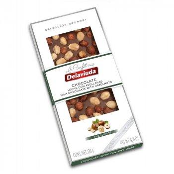 Молочный шоколад Delaviuda с фундуком 130 г (8410223607252)