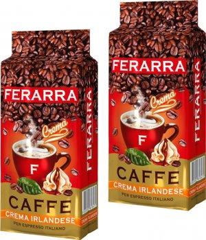 Упаковка меленої кави Ferarra Crema Irlandese з ароматом ірландського крему 250 г х 2 шт. (2000006782229)