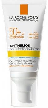 Солнцезащитный крем-гель корректирующий La Roche-Posay Anthelios Anti-Imperfections SPF 50+ для жирной, проблемной кожи, и склонной к акне 50 мл (3337875651196)