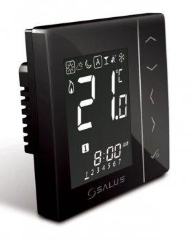 Кімнатний термостат SALUS VS10 4 в 1 чорний