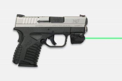 Лазерний целеуказатель LaserMax GREEN MICRO II на планку Пикатинни (зелений, 532 нМ, двостороннє управління)