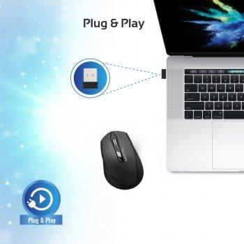 Миша Promate Clix-6 Wireless Black (clix-6.black)