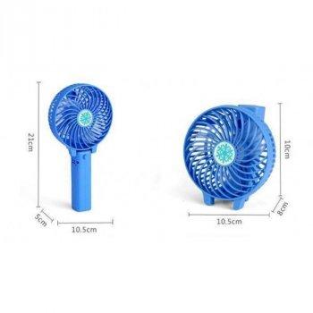 Вентилятор ручної акумуляторний Plymex Синій HF-308