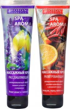 Набор для массажа Bioton Cosmetics Крем разогревающий 100 мл + Крем расслабляющий 100 мл (4820026154084)