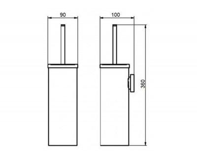 Туалетний йоржик Q-TAP LIBERTY QTLIBORO1150