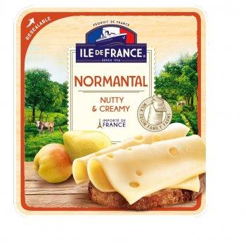 Сир напівтвердий Ile De France Норманталь нарізка 150г