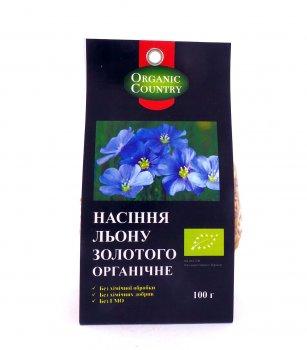 Семена льна Золотого органические Organic Country 100 г (2000000001173)