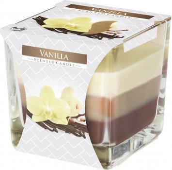 Свеча ароматическая трехцветная Bispol Ваниль 170 г (snk80-67)