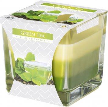 Свеча ароматическая трехцветная Bispol Зеленый чай 170 г (snk80-83)