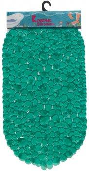 Килимок у ванну кімнату Верес Камінці з мушлями Овал 39х87