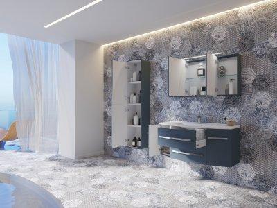 Зеркальный шкаф BOTTICELLI Vanessa VNMC-120 белый