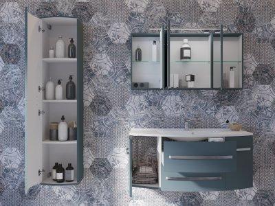Зеркальный шкаф BOTTICELLI Vanessa VNMC-120 темная дыня