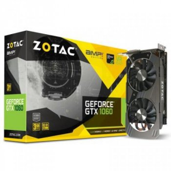Відеокарта ZOTAC GeForce GTX1060 3072Mb AMP! Edition (ZT-P10610E-10M)