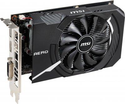 MSI PCI-Ex GeForce GTX 1650 Aero ITX 4G OC 4GB GDDR5 (128bit) (1740/8000) (1 x DisplayPort, 1 x HDMI, 1 x DVI) (GeForce GTX 1650 AERO ITX 4G OC)