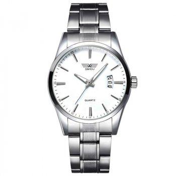Мужские часы SWIDU SWI-021 Silver + White
