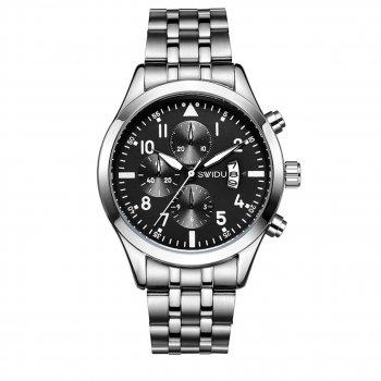 Мужские часы SWIDU SWI-081 Silver + Black