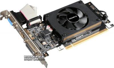 Gigabyte PCI-Ex GeForce GT 710 2048MB DDR3 (64bit) (954/1600) (HDMI, DVI, VGA) (GV-N710D3-2GL V2.0)