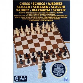 Настільні ігри Spin Master Настільна гра Шахи дерев'яні фігури (SM98367/6033313)