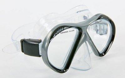 Набор для плавания маска с трубкой Zelart M293P-SN110-PVC серый