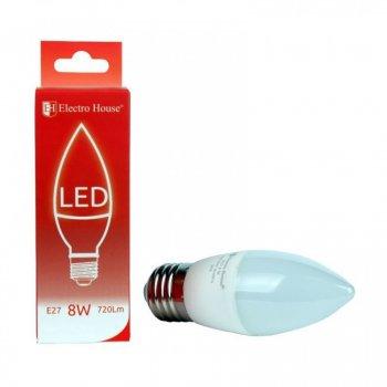 LED лампа ElectroHouse Е27 свеча 8W (EH-LMP-1254)
