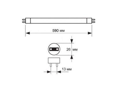 Лампа ультрафіолетова Osram SUPRABLACK L 18W/73 G13
