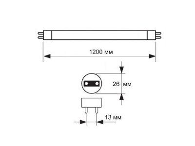 Лампа ультрафіолетова Osram SUPRABLACK L 36W/73 G13