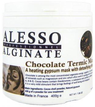 Альгинатная маска для лица Alesso термо-активная шоколадная омолаживающая 400 г (3273629010539)