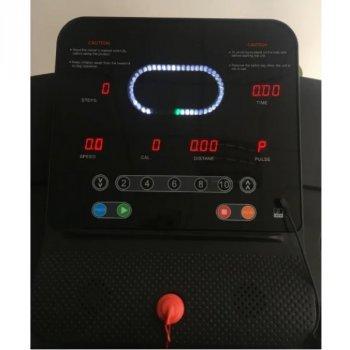 Беговая дорожка электрическая FitToSky CP-A2 с LCD дисплеем и MP3 + 12 программ + измерение пульса и счетчик калорий + твистер в подарок Черный