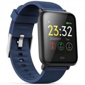Смарт-годинник Smart Q9 з пульсометром, тонометром і моніторингом сну + лічильник калорій і крокомір Синій