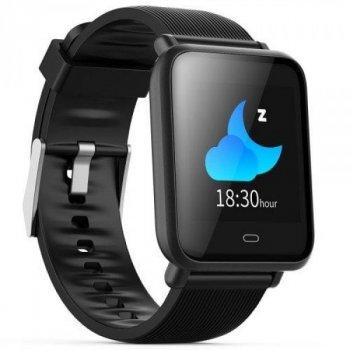 Смарт-годинник Smart Q9 з пульсометром, тонометром і моніторингом сну + лічильник калорій і крокомір Чорний