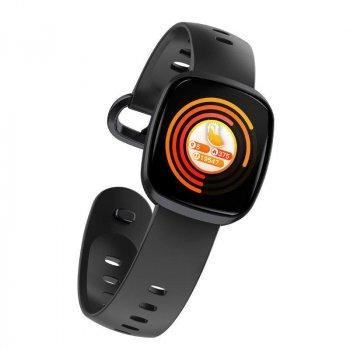 Смарт-годинник Smart GT103 з вимірюванням рівня кисню в крові + тонометр, пульсометр і крокомір Чорний
