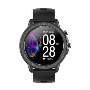 Смарт-часы Smart S02 с измерением кислорода в крови и пульсометром + счетчик калорий и мониторинг сна Черный