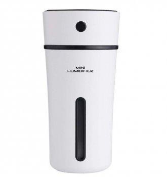 Увлажнитель воздуха ароматизатор диффузер ночник Mini Humidifier 300 мл micro USB ультразвуковой Белый/Черный
