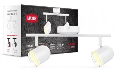 Спотовий світильник MAXUS MSL-01C 2x4W 4100K білий (2-MSL-10841-CW)