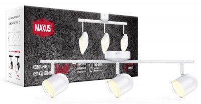 Спотовий світильник MAXUS MSL-01C 3x4W 4100K білий (3-MSL-11241-CW)