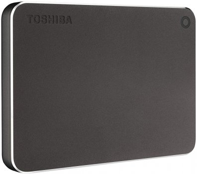 "Жорсткий диск Toshiba Canvio Premium 2TB HDTW220EB3AA 2.5"" USB Type-C External Dark Gray Metallic"