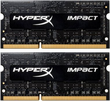 Оперативная память HyperX SODIMM DDR3L-2133 8192MB PC3L-17000 (Kit of 2x4096) Impact (HX321LS11IB2K2/8)