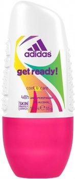 Дезодорант-антиперспирант шариковый Adidas W Get Ready 50 мл (384167) (3607349805357)