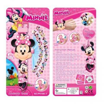 """Часы наручные детские с 3d проектором """"Минни Маус (Minnie Mouse)"""""""