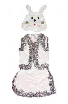 Детский карнавальный костюм Зайчик 110-116 см